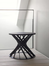 twist side table